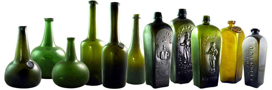 Brian Stephenson Antique Glass Bottles