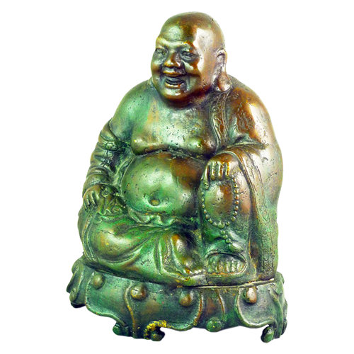 Bronze sculpture of the Chinese Laughing Buddha (Maitreya)