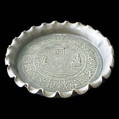 Song white glazed dish