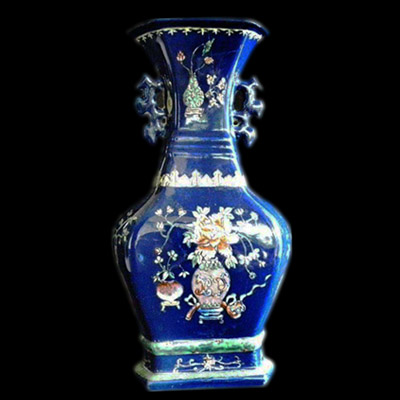Yuan blue and white vase