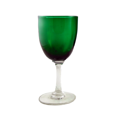 Victorian Bristol Green wine glass