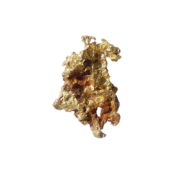 0.46 gm gold nugget from the Honey Camp Goldfield Issano Mazaruni District, Guyana
