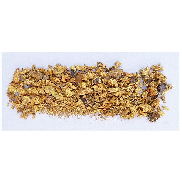 3.93g of small gold nuggets from the  Honey Camp Goldfield Issano Mazaruni District, Guyana