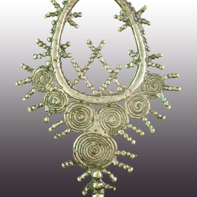 Silver earring or Kavata from the Tetum people of East Timor