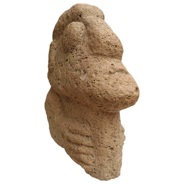 Stone head from the Chavin civilization (900-200 BCE) Northern Peru
