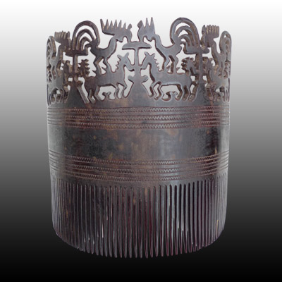 Sumba comb or head dress in wood