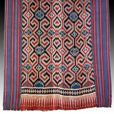 South Sulawesi Toraja warp ikat shroud or wall hanging (Seko Mandi)