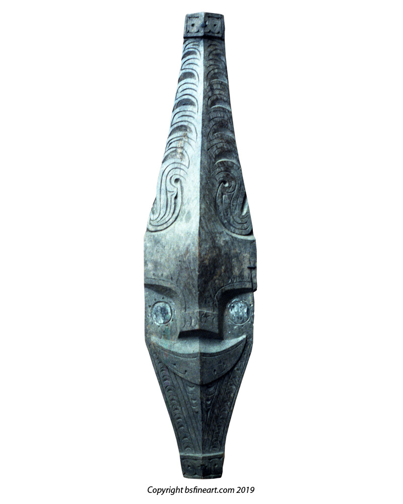 Batak Toba house ornament in the form of a buffalo head