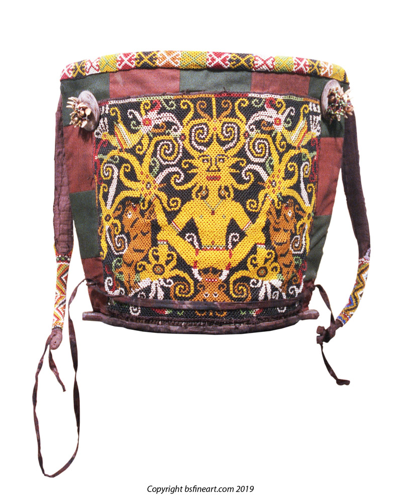 Dayak beaded baby carry
