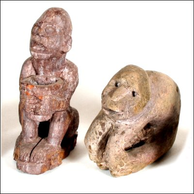 Group of Dayak shamanic stone charms
